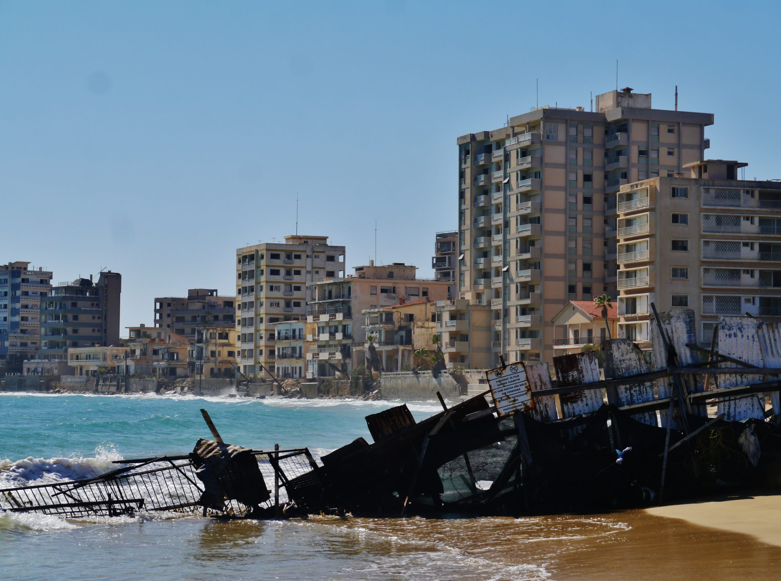 Image of the divided and abandoned city of Varosha, Cyprus