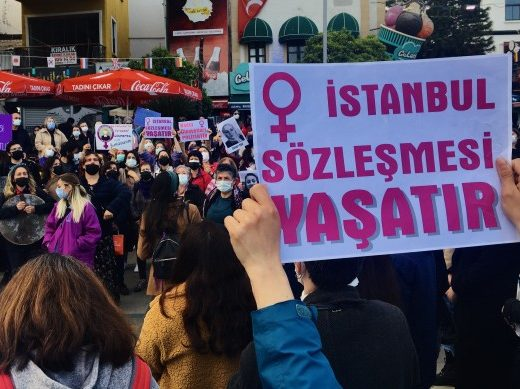 Protests in Turkey against the country's withdrawal from the Istanbul Convention on Preventing and Combating Violence Against Women and Domestic Violence